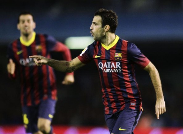 Cesc Fabregas1 e1383122747126 FC Barcelona   Cesc Fabregas Takes Over For Messi
