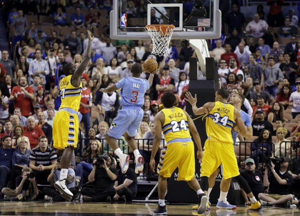 Chris Paul scored 40 points for the Los Angeles Clippers in a 118-111 win over the Denver Nuggets.