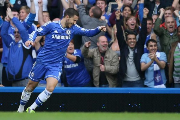 With his brace in the 4-1 win, Eden Hazard has now scored three league goals this season.