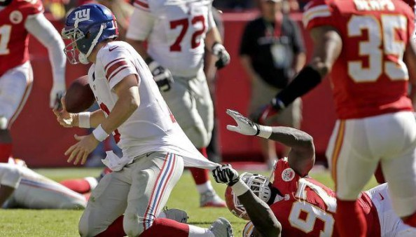 With 15 interceptions thrown this season by Eli Manning, he has outdone every other NFL team.