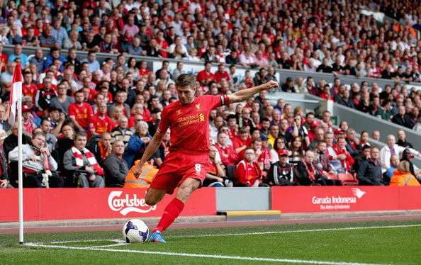 Set pieces have become the only way Steven Gerrard contributes to the offensive game