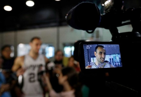 Ginobili on Camera