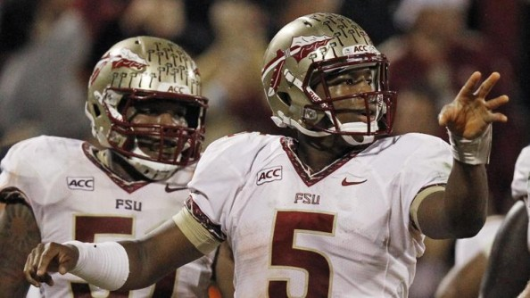 Jameis Winton threw for 444 yards and three touchdown passes as #5 Florida State beat #3 Clemson 51-14.