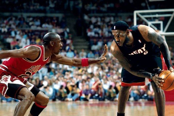 James vs Jordan Photoshop