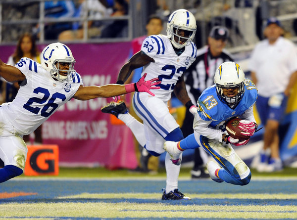 Keenan Allen caught the only touchdown of the game, finishing with nine receptions for 107 yards.