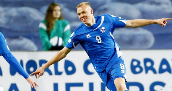 Kolbeinn Sigthorsson scored for Iceland in their 1-1 draw against Norway, ensuring they'll be in the playoffs for the World Cup.