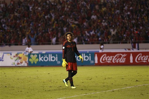 Guillermo Ochoa doesn't have too much to be happy about