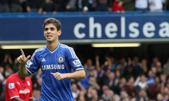 Coming on as a sub for Chelsea didn't matter to Oscar, scoring his fourth goal of the season.