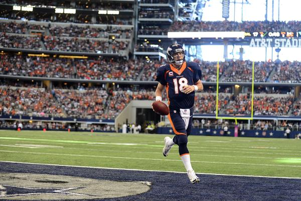 Manning has thrown only one interception so far this season