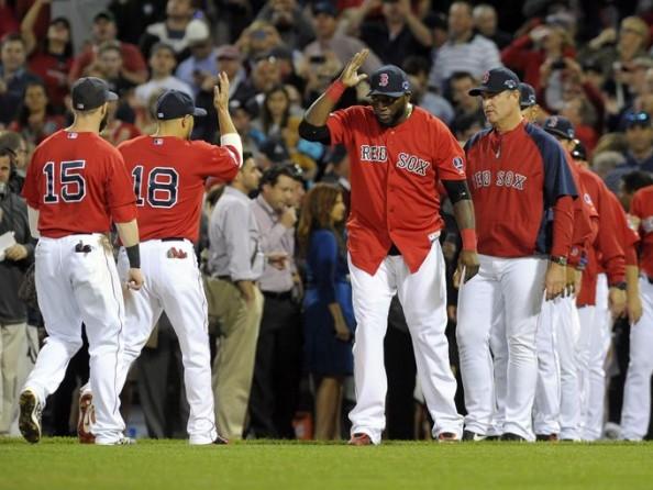 Red Sox Celebrating