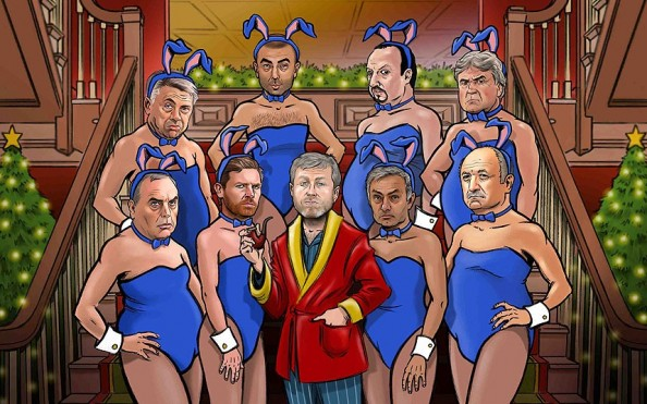 Roman Abramovich and his Bunnies
