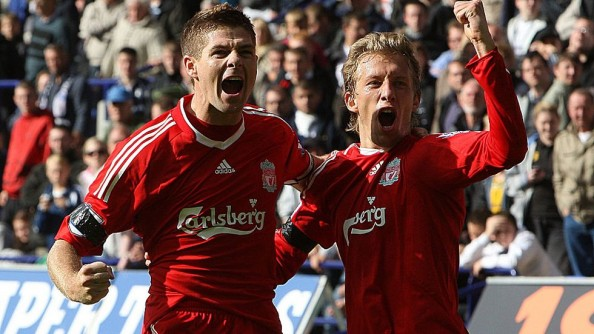 Gerrard and Lucas have started together in Liverpool's midfield on six of their seven Premier League matches so far