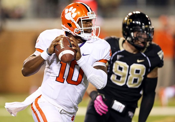 Leading Clemson to a 6-0 record so far, Tajh Boyd has thrown 15 touchdowns to only 2 interceptions.