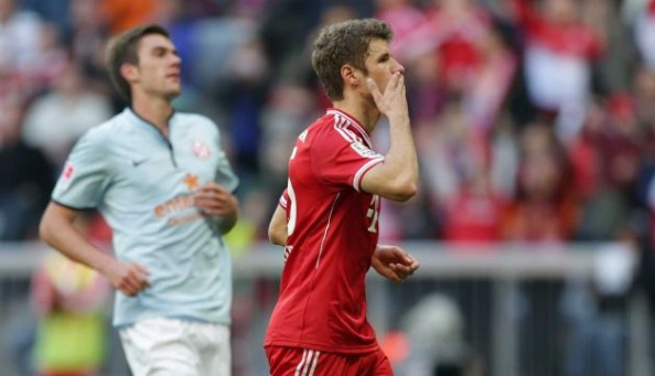 Thomas Muller has now scored 3 goals in 9 league matches for Bayern Munich.