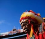 "The unofficial mascot of the team is an African American man, Zema Williams (aka Chief Zee), who has attended games since 1978 dressed in a red faux ""Indian"" costume complete with feathered war bonnet and tomahawk."