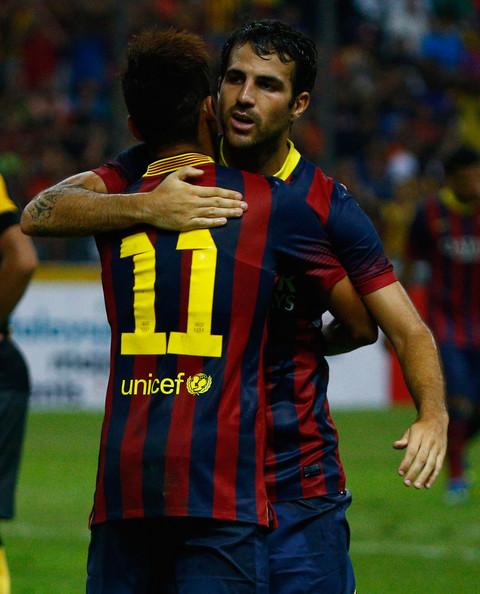 Neymar, Fabregas