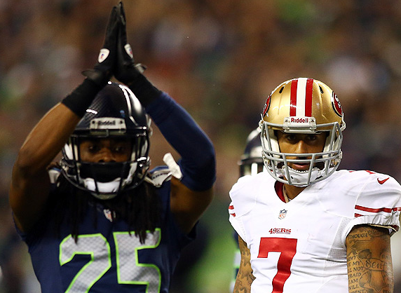 Richard Sherman, Colin Kaepernick