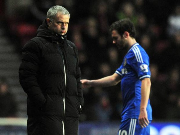 Unhappy Juan Mata