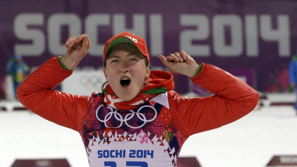 Darya Domracheva e1393231580570 Final Medal Count of the 2014 Winter Olympics