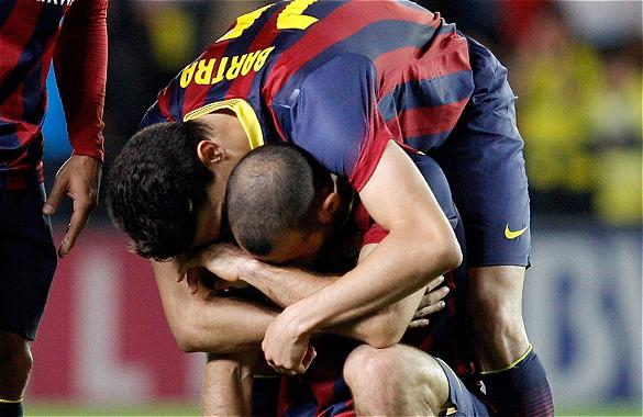 Javier Mascherano crying