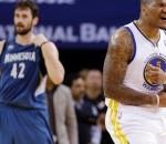 Warriors beat Timberwolves