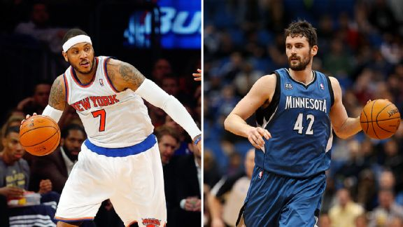 Kevin Love, Carmelo Anthony