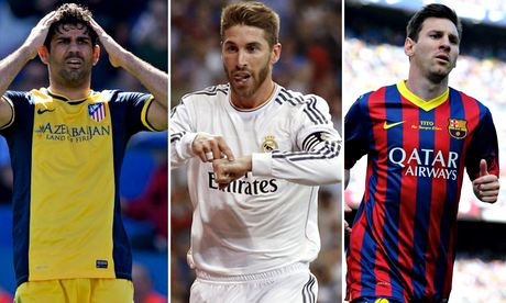 Diego Costa, Sergio Ramos and Lionel Messi