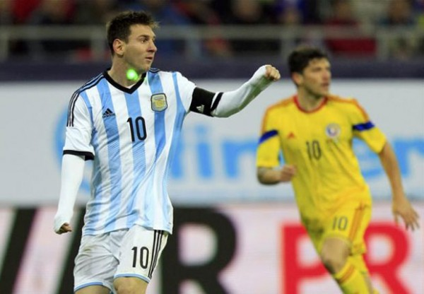 Lionel Messi & a Laser