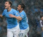 Manchester city beat Aston Villa
