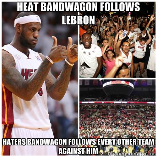 Bandwagon follows 31 Best Memes of LeBron James Maybe Leaving the Miami Heat