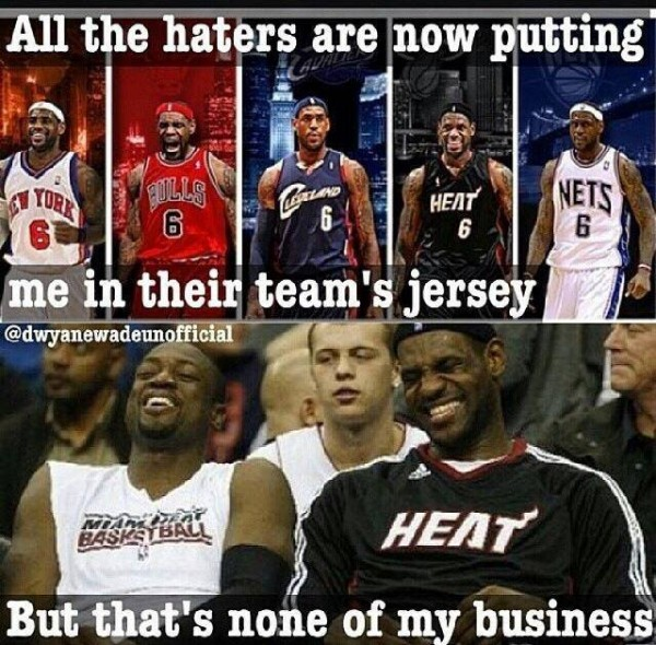 Different jerseys e1403699811780 31 Best Memes of LeBron James Maybe Leaving the Miami Heat