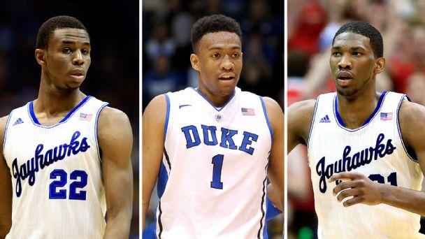 Embiid, Parker, Wiggins