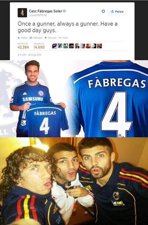 9 Best Memes of Chelsea & Cesc Fabregas Winning Their ...  |Fabregas Meme