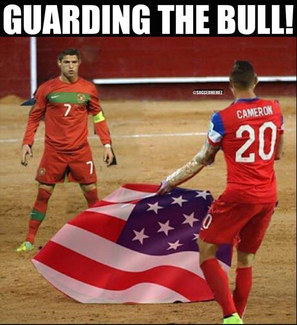 Guarding Ronaldo