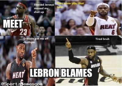 LeBron Blames