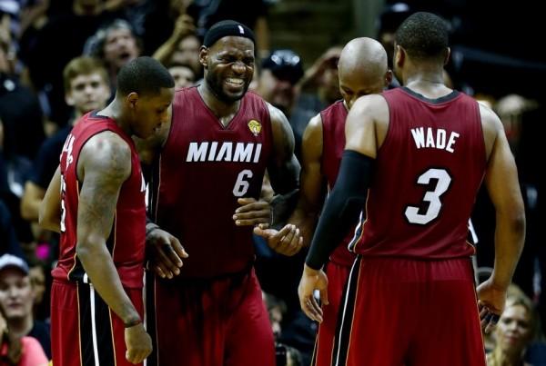 LeBron James, Heat teammates