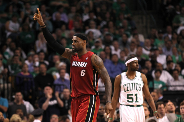LeBron James vs Celtics