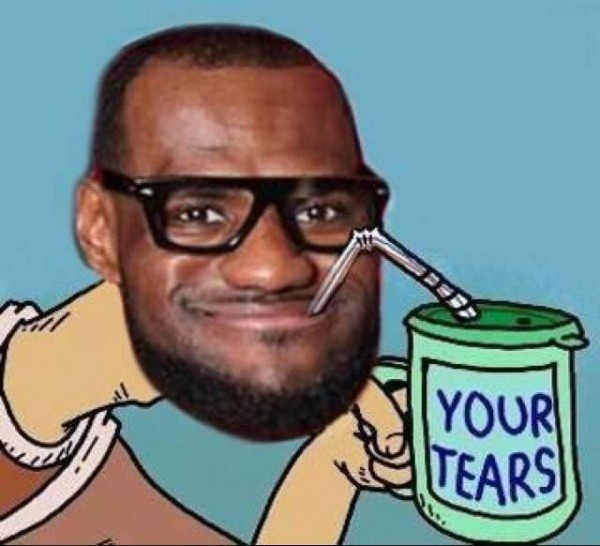 LeBron drinking tears