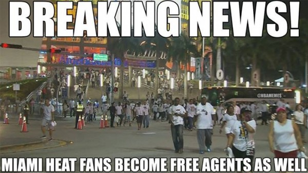 More free agents e1403699799618 31 Best Memes of LeBron James Maybe Leaving the Miami Heat