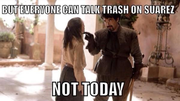 No trash talk today