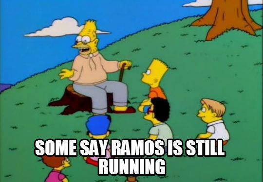 Ramos is still running