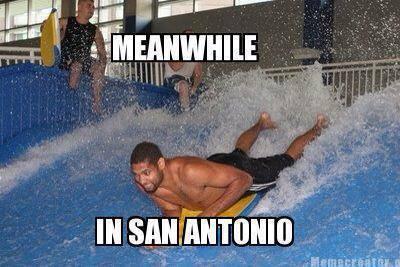 San Antonio having fun