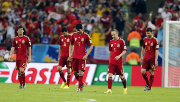 Spain lose