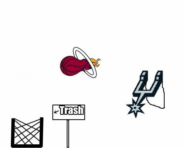 Spurs, Heat, Trash