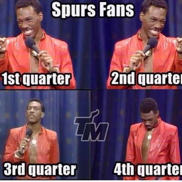 Spurs fans during the game