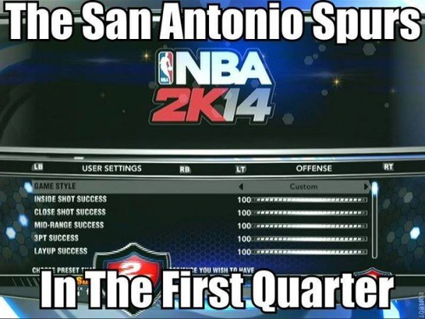 Spurs in the 1st quarter