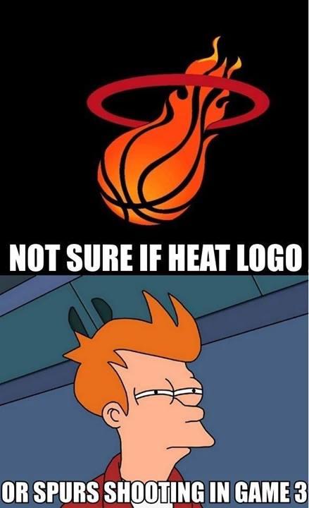 Spurs shooting vs Heat logo