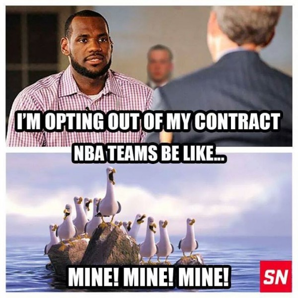 The NBA right now e1403699819551 31 Best Memes of LeBron James Maybe Leaving the Miami Heat