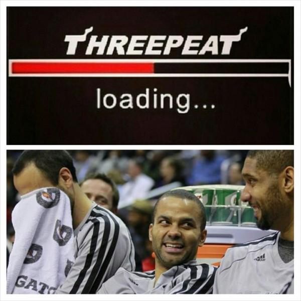 Threepeat laugh