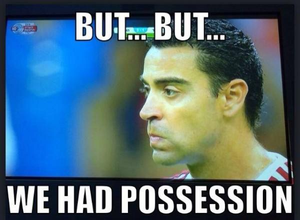 We had possession
